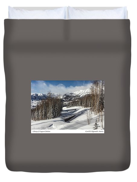 View From A Mountain Above Telluride In Colorado Duvet Cover by Carol M Highsmith
