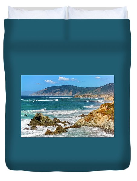 View From Abalone Point Duvet Cover