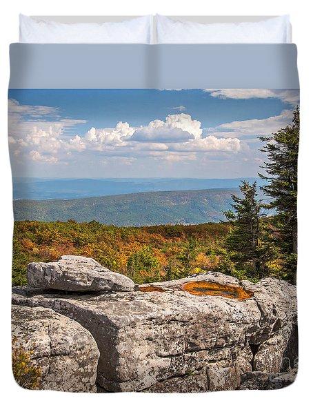 View From Bear Rocks 4173c Duvet Cover