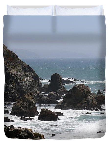 View From Bodega Head In Bodega Bay Ca - 4 Duvet Cover