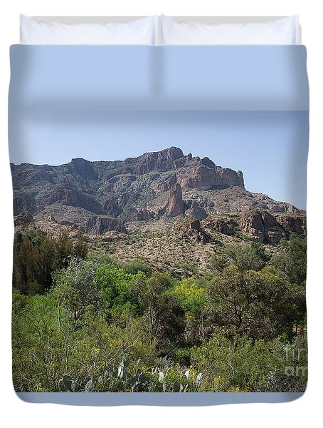 Duvet Cover featuring the photograph View From Boyce Thompson II by Anne Rodkin