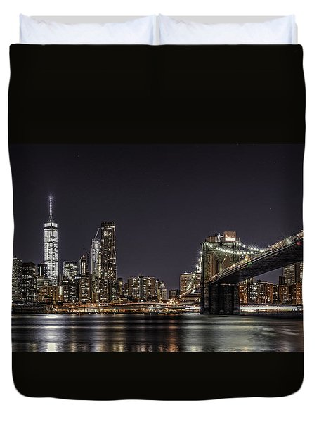 View From Brooklyn Bridge Park Duvet Cover