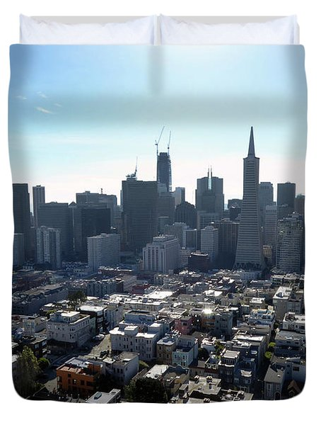 View From Coit Tower Duvet Cover