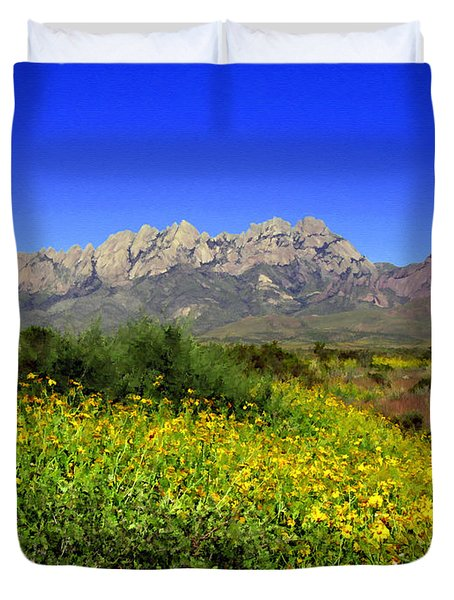 View From Dripping Springs Rd Duvet Cover by Kurt Van Wagner