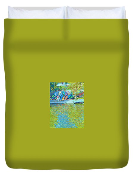 View From East Side Boardwalk Duvet Cover