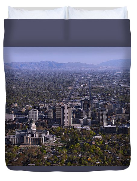 View From Ensign Duvet Cover