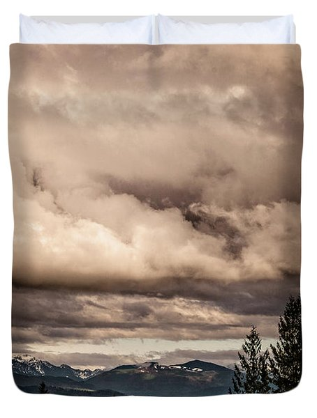 View From Flicka Farm Duvet Cover