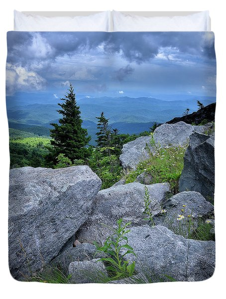View From Grandfather Mtn Nc Duvet Cover