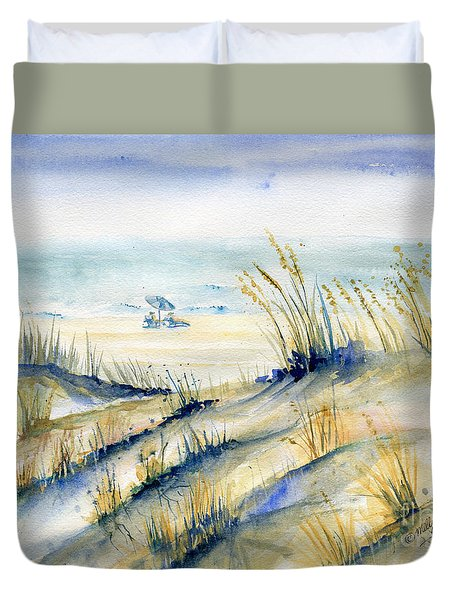 View From Marty's Playland Ocmd Duvet Cover