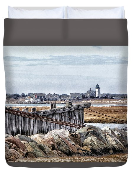 View From Mill Creek - Cold Duvet Cover by Constantine Gregory