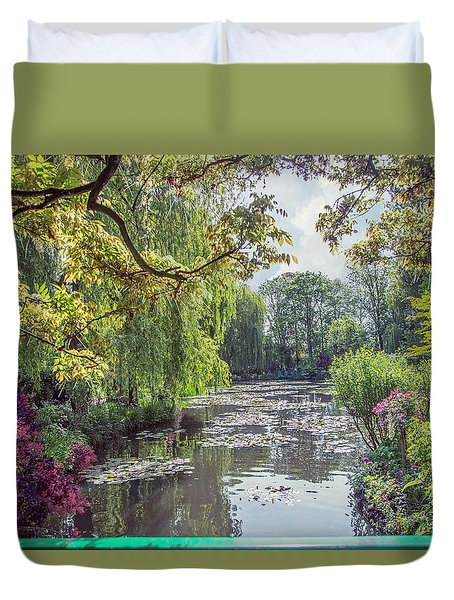View From Monet's Bridge Duvet Cover