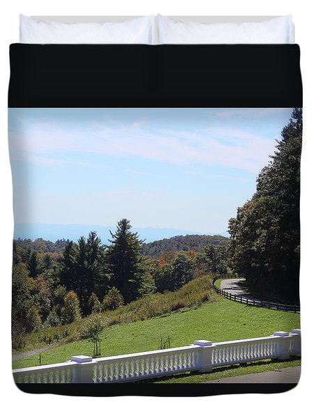 View From Moses Cone 2014a Duvet Cover