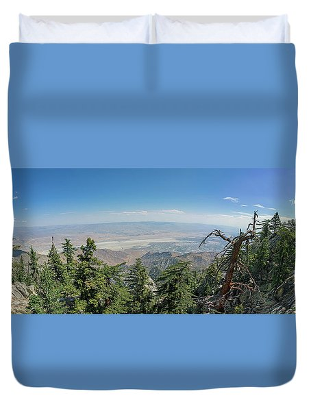 View From Mount San Jacinto Duvet Cover