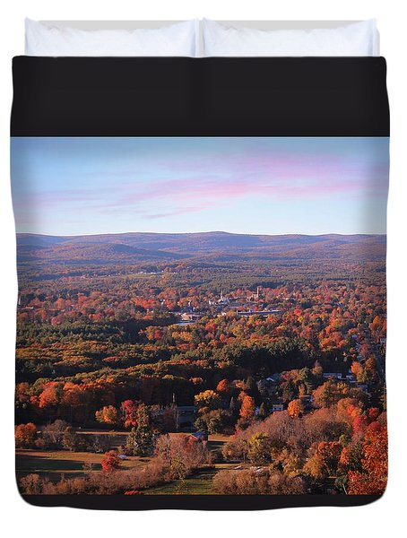 View From Mount Tom In Easthampton, Ma Duvet Cover