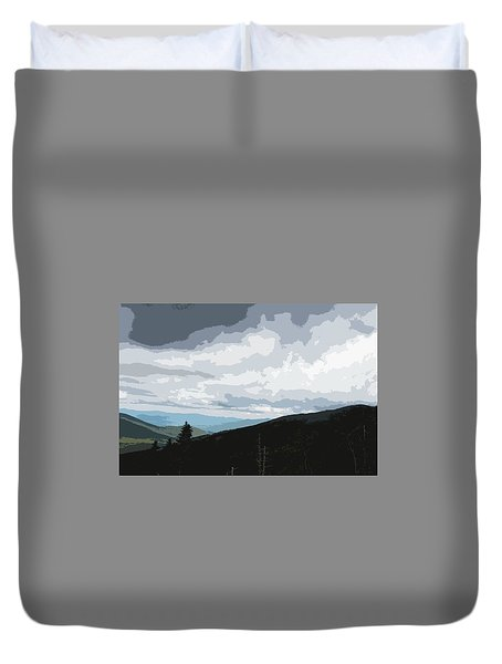 View From Mount Washington II Duvet Cover by Suzanne Gaff