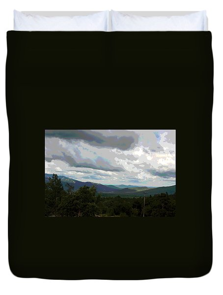 View From Mount Washington IIi Duvet Cover by Suzanne Gaff