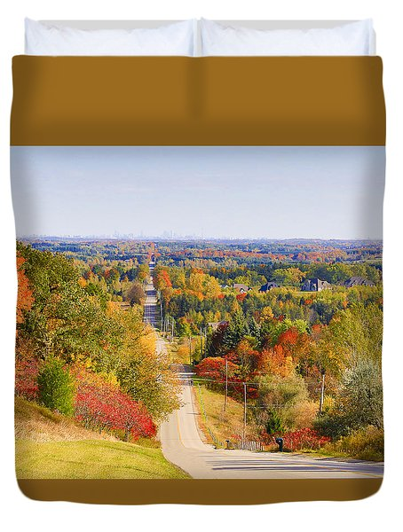Duvet Cover featuring the photograph View From Mount Wolfe by Gary Hall