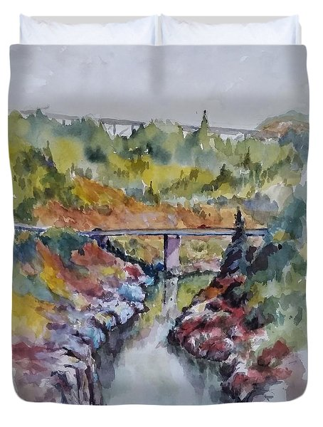 View From No Hands Bridge Duvet Cover by William Reed