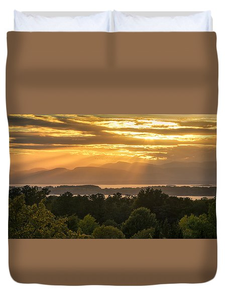 View From Overlook Park Duvet Cover by Craig Szymanski
