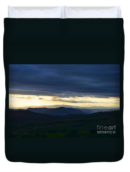 View From Palomar 9633 Duvet Cover