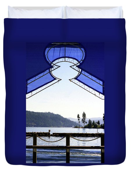 Duvet Cover featuring the photograph View From Pier by Emanuel Tanjala