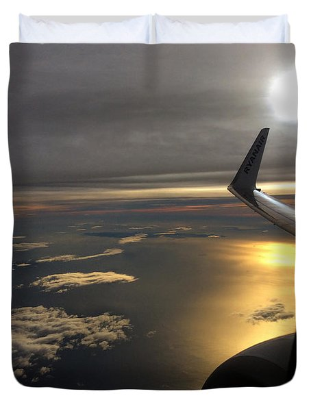 View From Plane  Duvet Cover