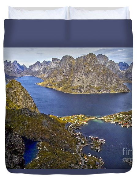 View From Reinebringen Duvet Cover by Heiko Koehrer-Wagner