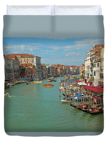 View From Rialto Bridge Duvet Cover