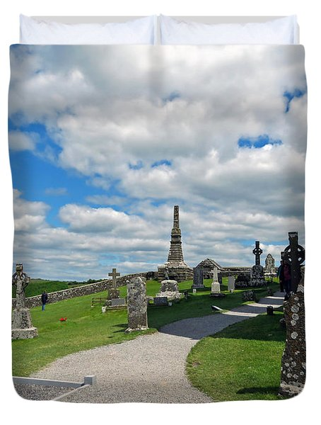 View From Rock Of Cashel Duvet Cover