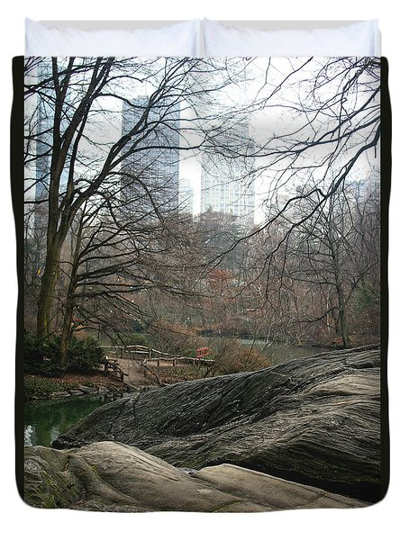View From Rocks Duvet Cover by Sandy Moulder