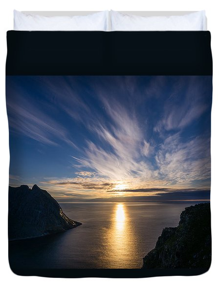Duvet Cover featuring the photograph View From Ryten by James Billings