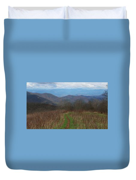 View From Silers Bald 2015a Duvet Cover