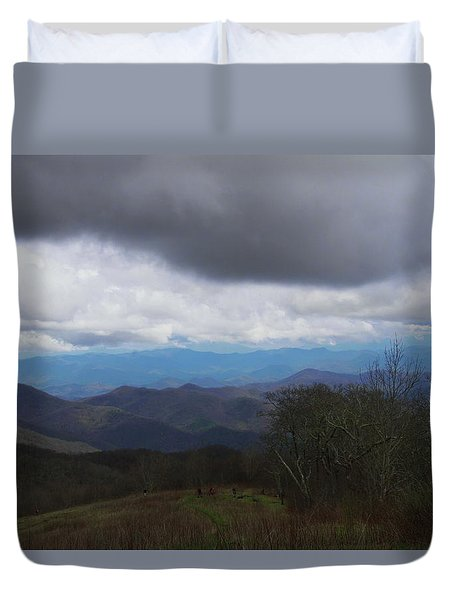 View From Silers Bald 2015b Duvet Cover
