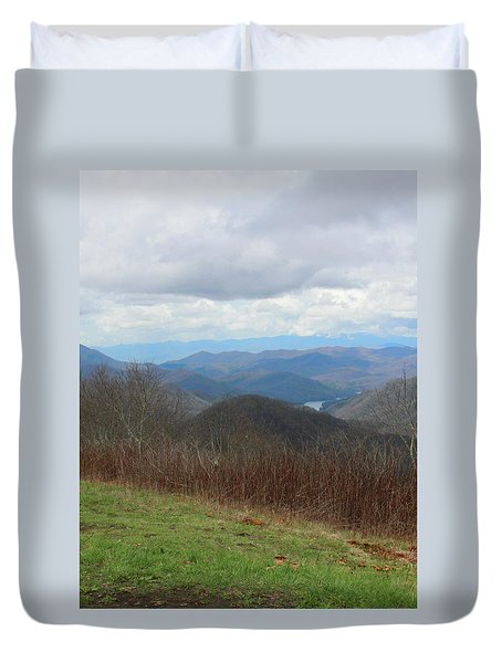 View From Silers Bald 2015c Duvet Cover