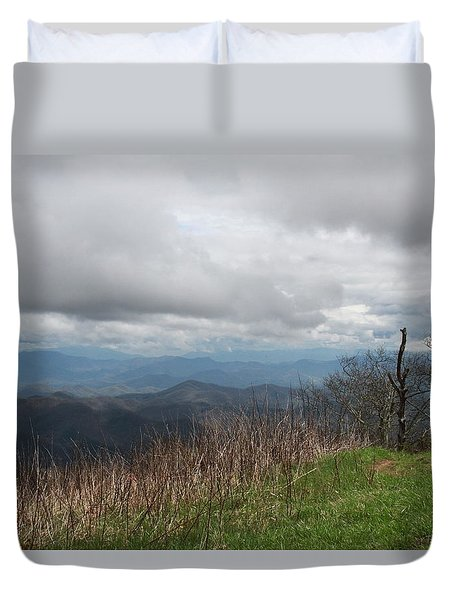 View From Silers Bald 2015e Duvet Cover