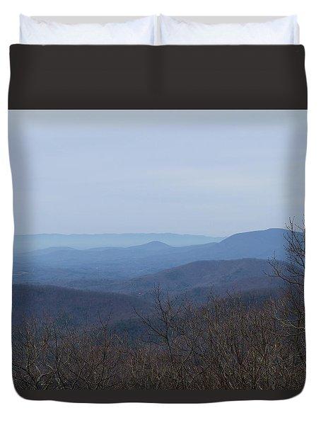 View From Springer Mountain Duvet Cover