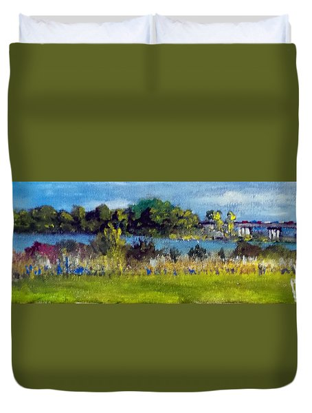 View From Sturgeon City Park Duvet Cover