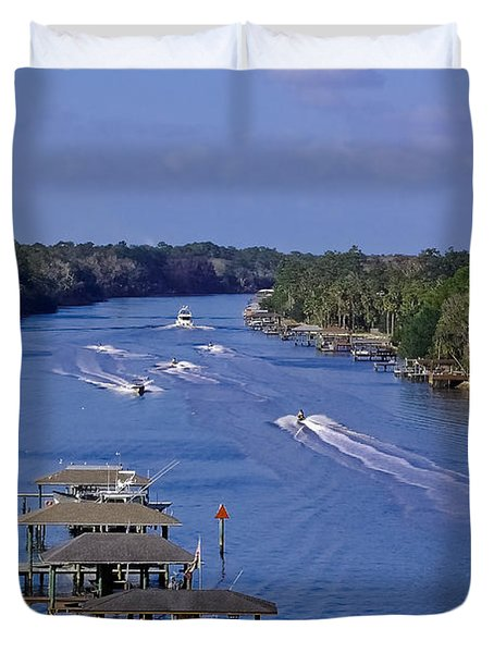 View From The Bridge Of Lions Duvet Cover