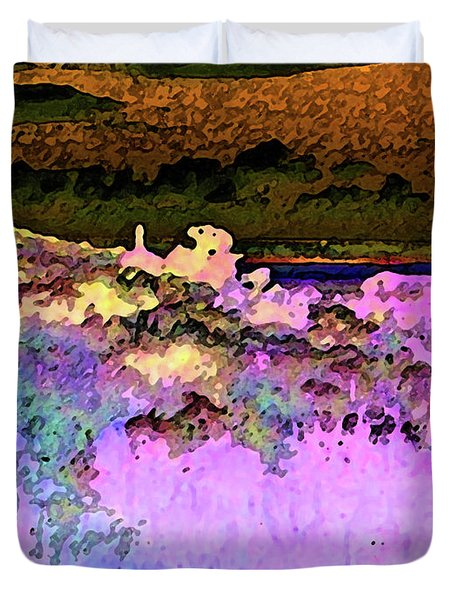 View From The Cabin Window 3 Duvet Cover by Lenore Senior