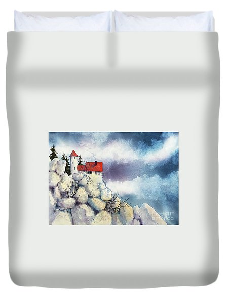 View From The Cliff Duvet Cover by Teresa Ascone