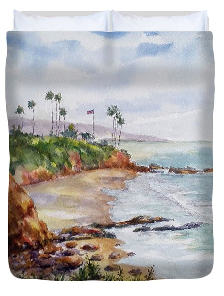 View From The Cliff Duvet Cover by William Reed