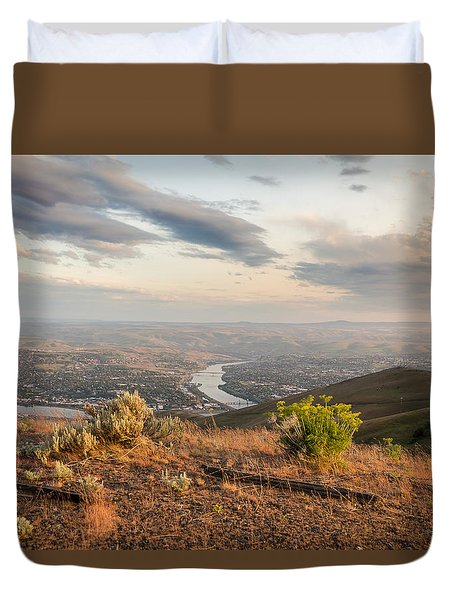 View From The Hill Duvet Cover