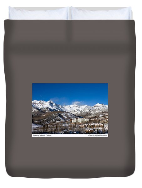 View From The Mountain Above Telluride Duvet Cover by Carol M Highsmith