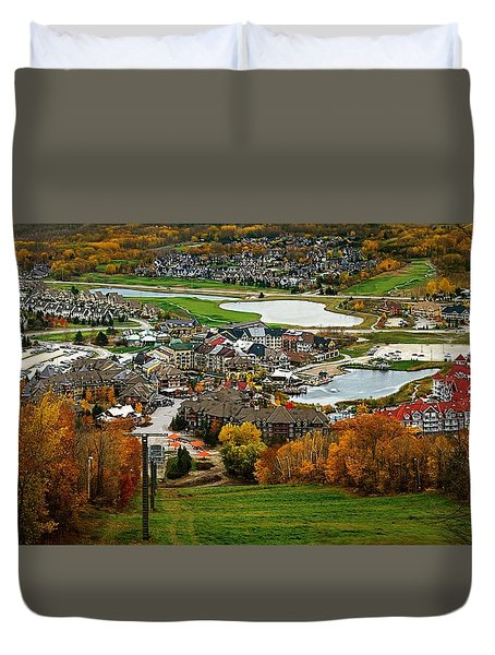 View From The Mountain Duvet Cover