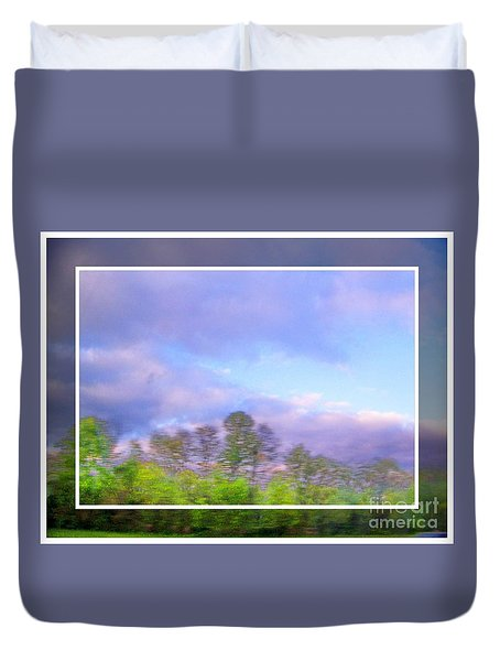 View From The Road 1 Duvet Cover