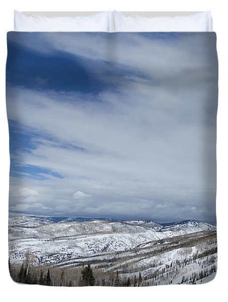 View From The Slope Duvet Cover