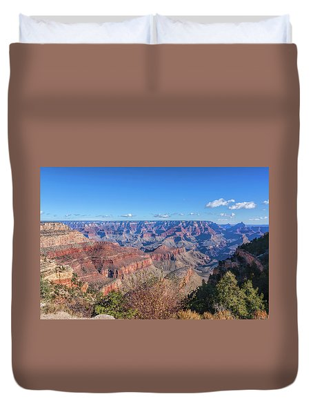 Duvet Cover featuring the photograph View From The South Rim by John M Bailey