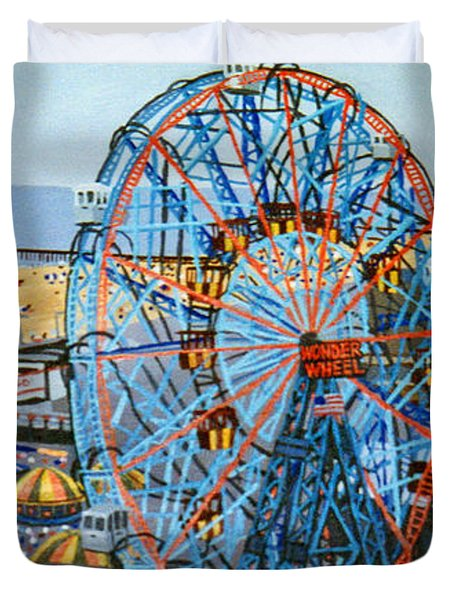 View From The Top Of The Cyclone Rollercoaster Duvet Cover