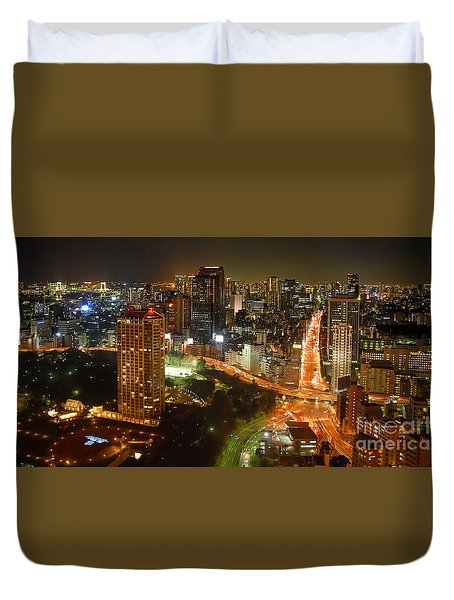 View From Tokyo Tower Duvet Cover