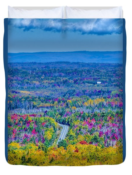 View From Top Of Court House Hill Duvet Cover